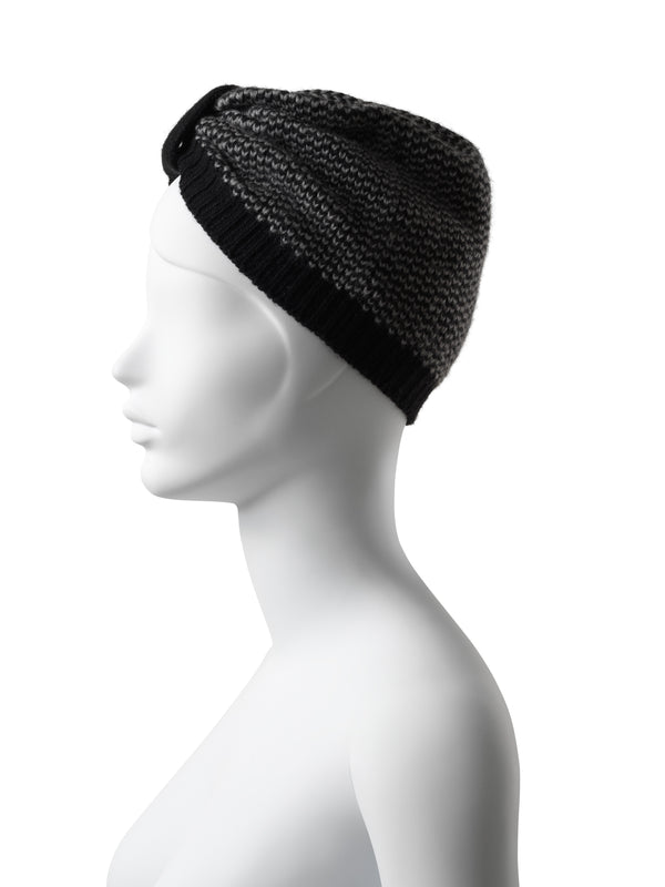 Audrey Black-Grey Turban