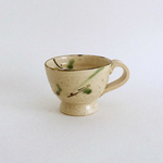 Yellow handmade mug