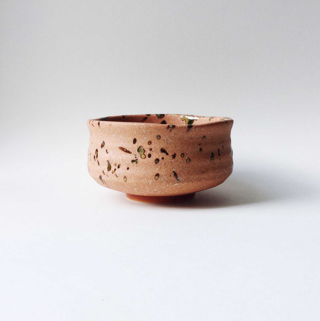 Japan series : 'Orange' burnt, spotted bowl