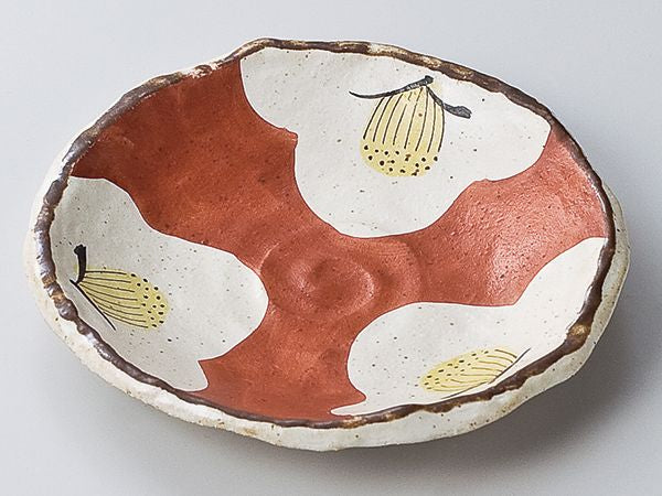 "Japan series: ""Tsubaki"" red bowl"