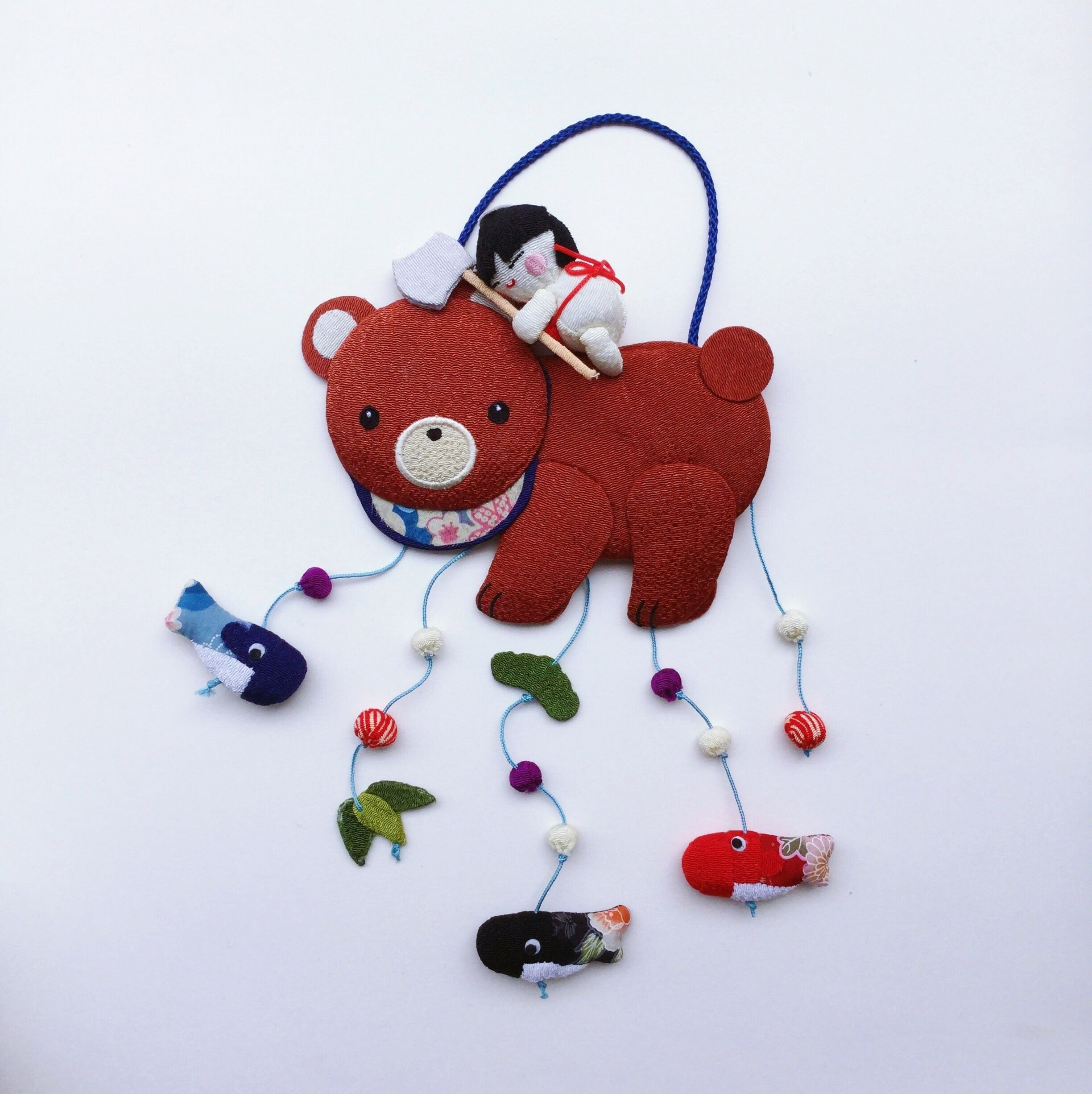 "Japan series : Handmade ornament Japan, ""Child riding Bear"""