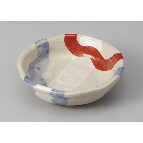 Japan series : Small bowl with red and blue stripes