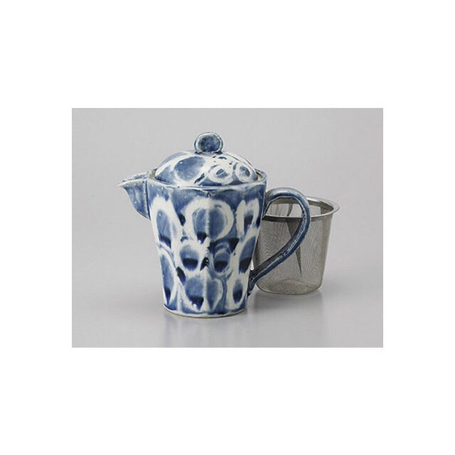 Japan series: Little blue artistic teapot