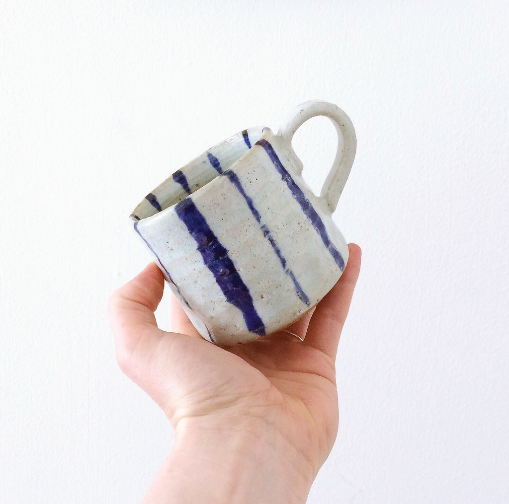 Japan series : Blue striped little mug