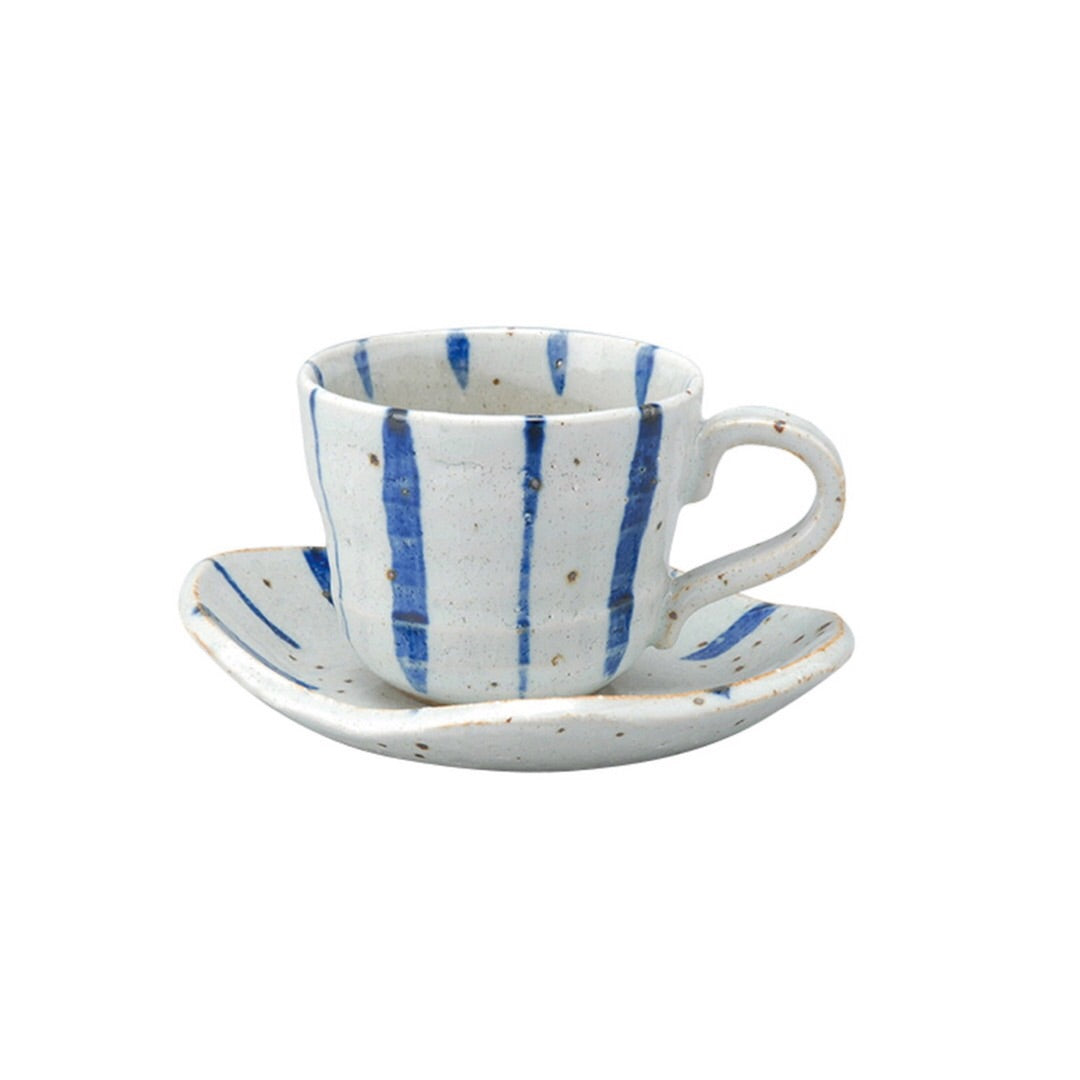 Japan series : Blue striped cup with saucer