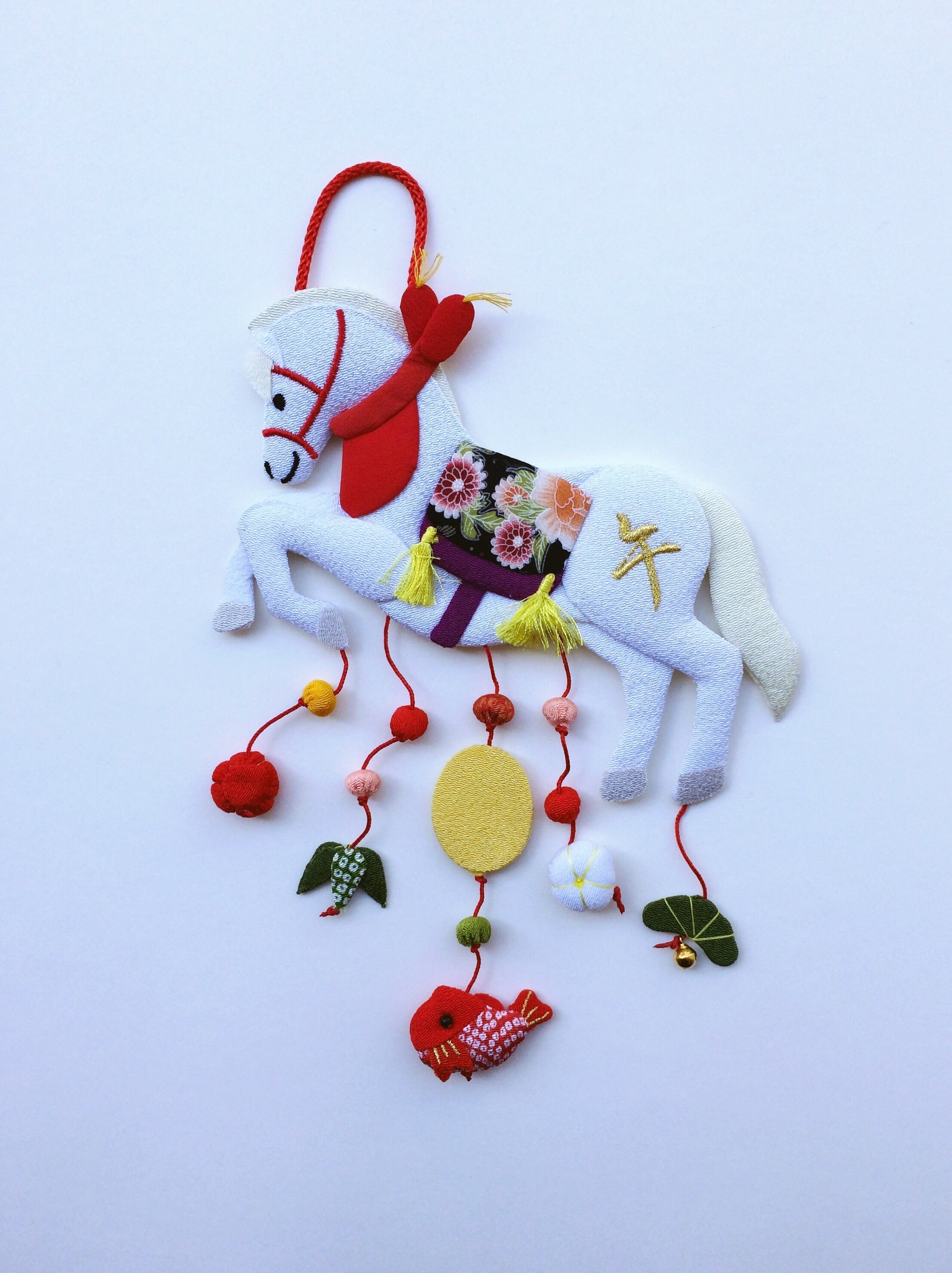 Handmade ornament Japan : White Horse