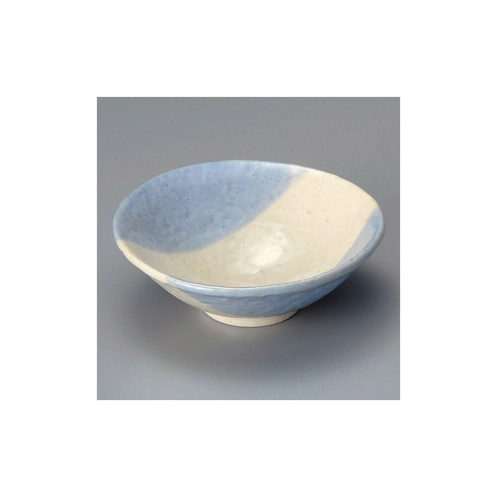 Japan series : White and light blue bowl
