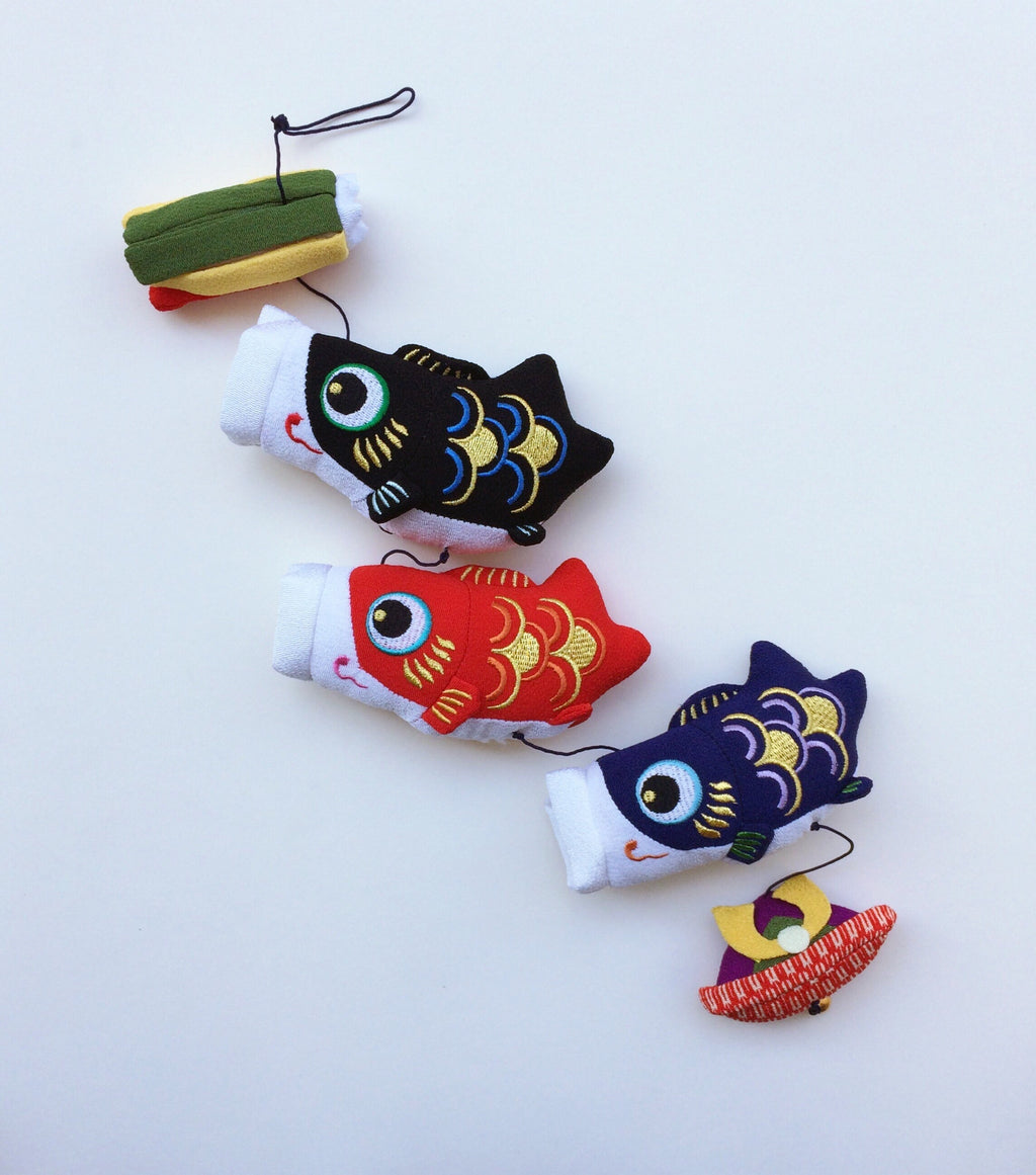 Handmade ornament Japan : Fish on string