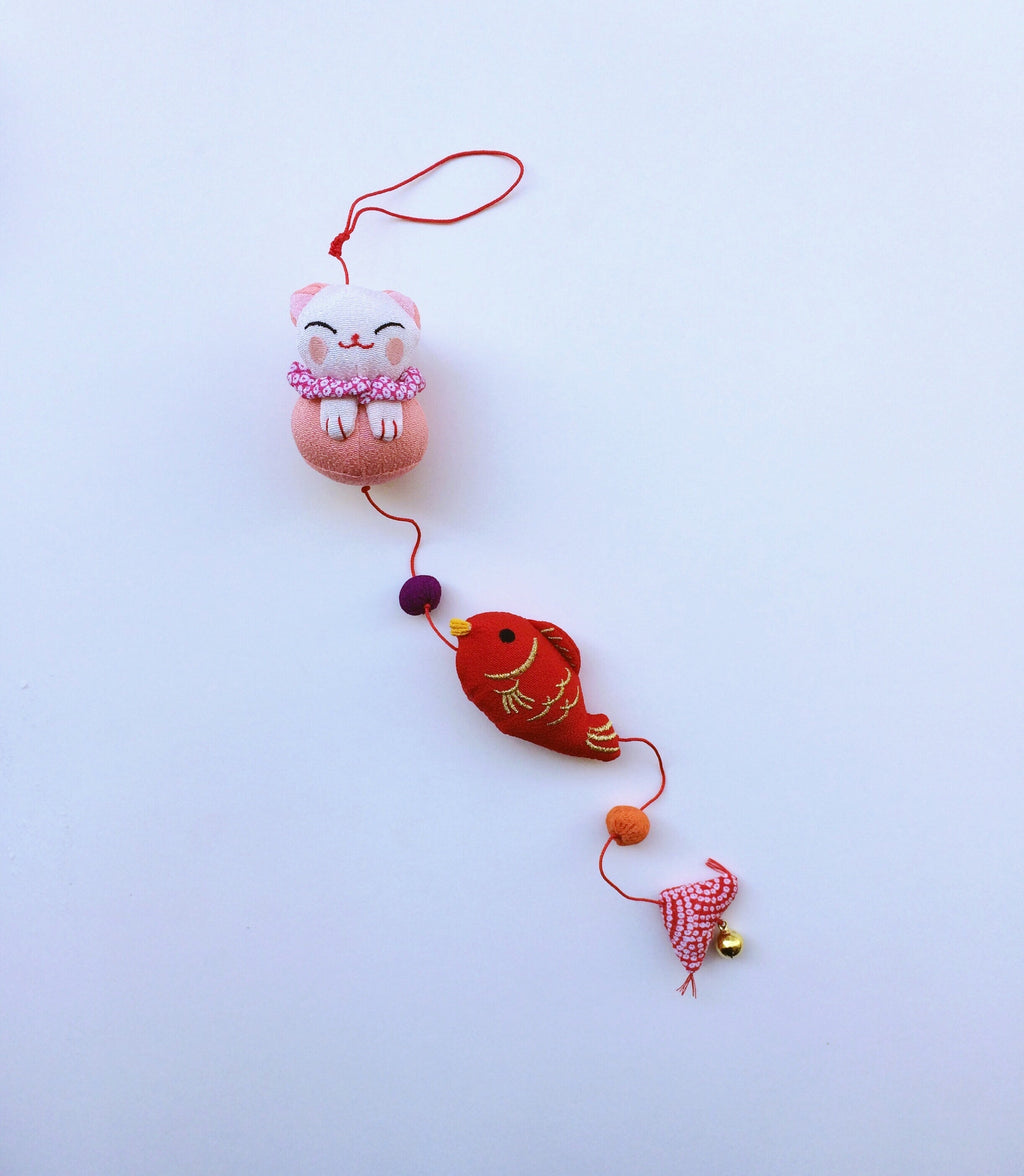 Handmade ornament Japan : Pink Cat