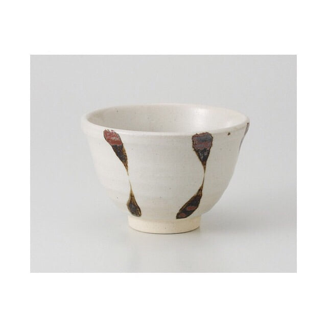 Japan series : White bowl with brown stripes