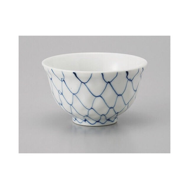 Japan series: Little white, blue patterned bowl