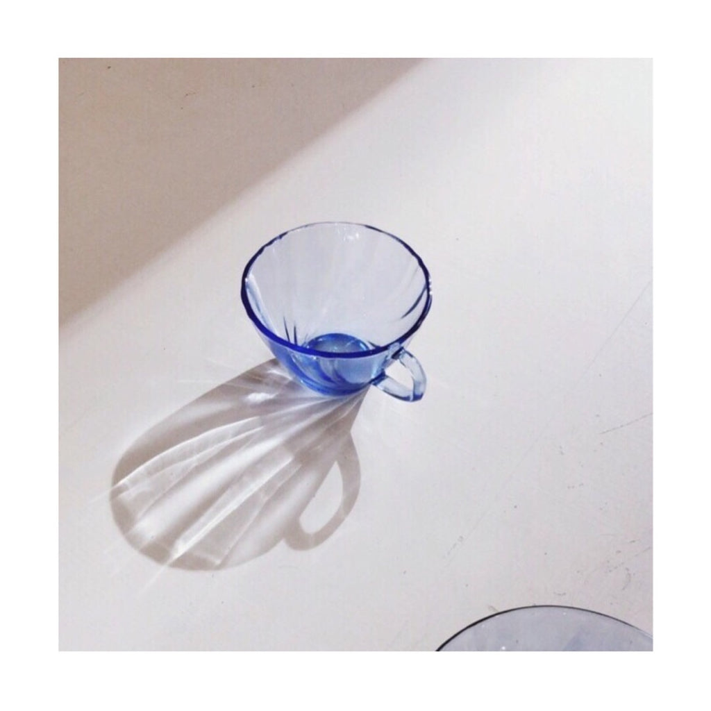 PRE-ORDER French blue glass cup