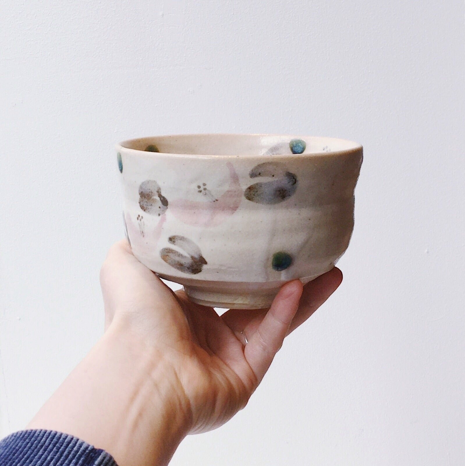 Japan series : Big matcha decorated bowl