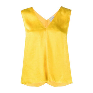 """MOIRÉ"" SATIN TOP CITRINE"