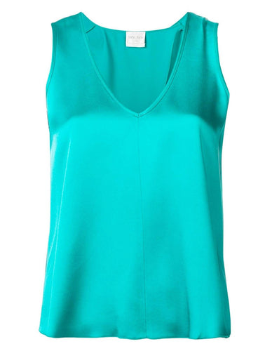 V-NECK GREEN TANK TOP