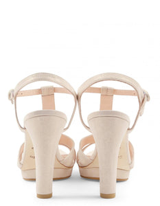 BIKINI SANDALS METALIK GOATSKIN OFF WHITE