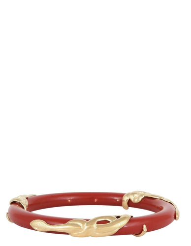COBRA JONC BRACELET ACETATE GOLD - RED