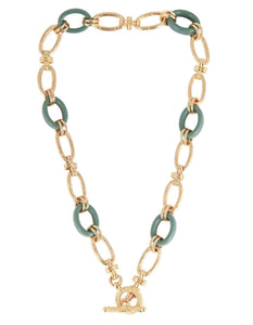 ESCAL LARGE GREEN NECKLACE