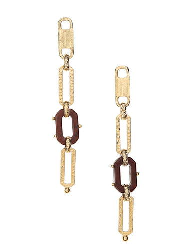 ESCALE LINEAR CHAIN EARRINGS