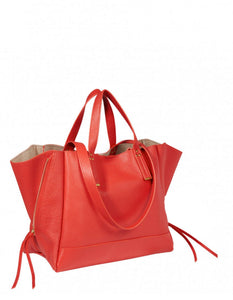 GEORGES M RED GOATSKIN BAG