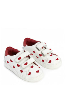 EMBROIDERED HEART TRAINERS