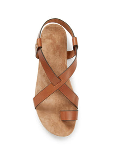 INGRID GOLD VEGETABLE COWSKIN SANDALS