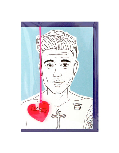 JUSTIN GREETING CARD