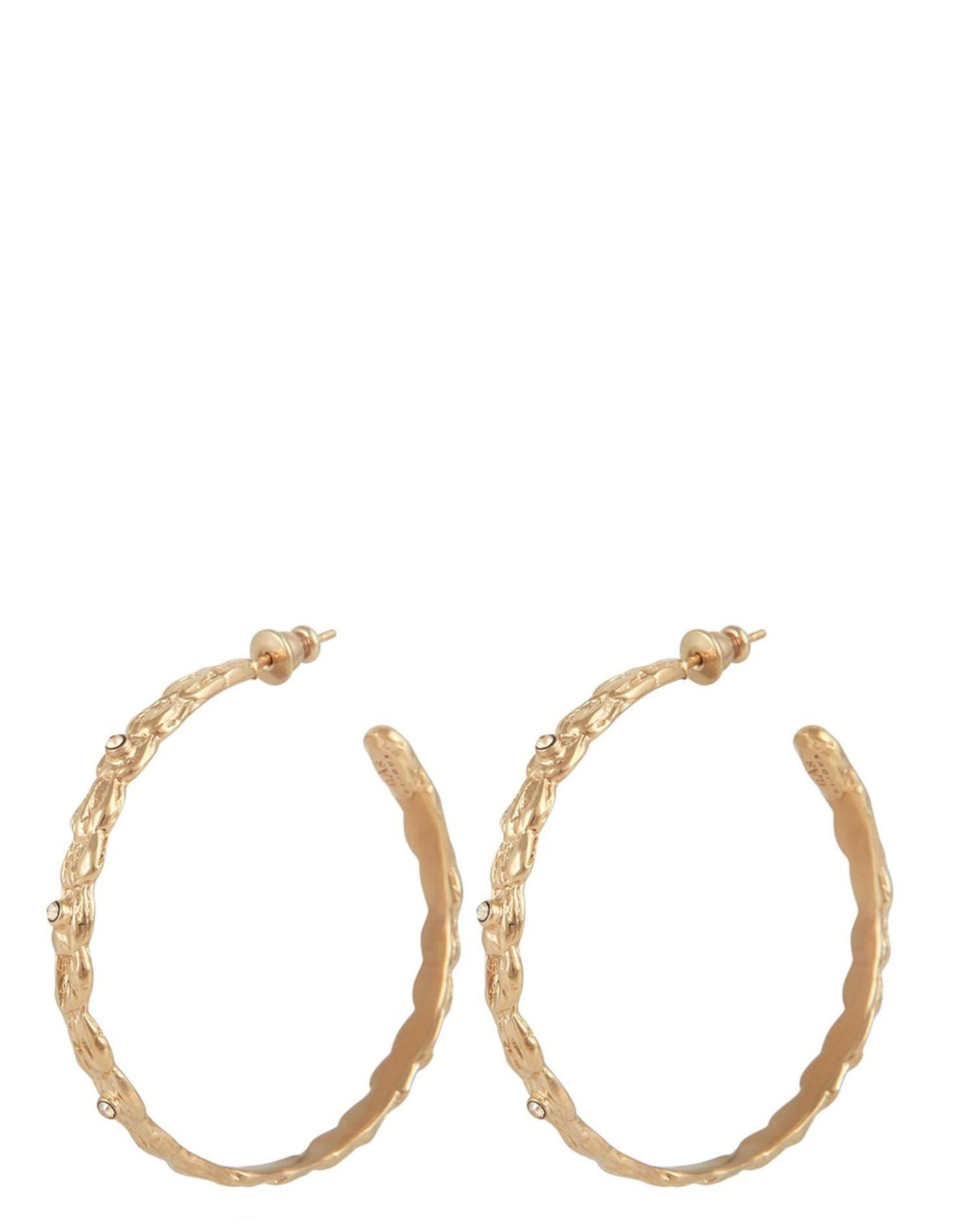 LIANE HEART HOOP EARRINGS