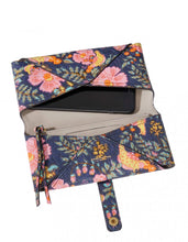INDIA PRINT MOBILE LAMBSKIN WALLET