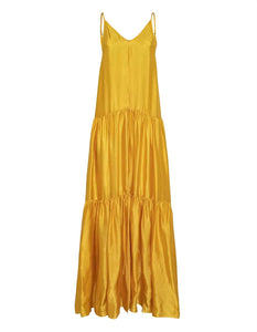 """MOIRÉ"" SATIN DRESS CITRINE"