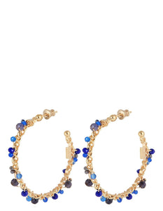 ORPHEE BLUE HOOP EARRINGS