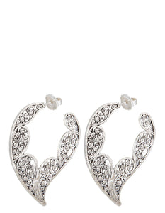 PAUL SILVER LACE EARRINGS