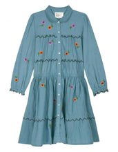 ROSCO FLOWERS DRESS BLUE