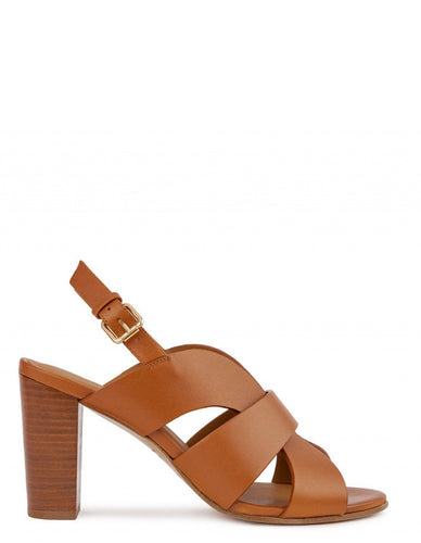 SHAHAR HIGH HEELS SANDALS IN COGNAC