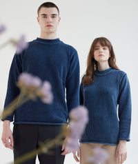 Salt Washed Real Indigo Knitwear