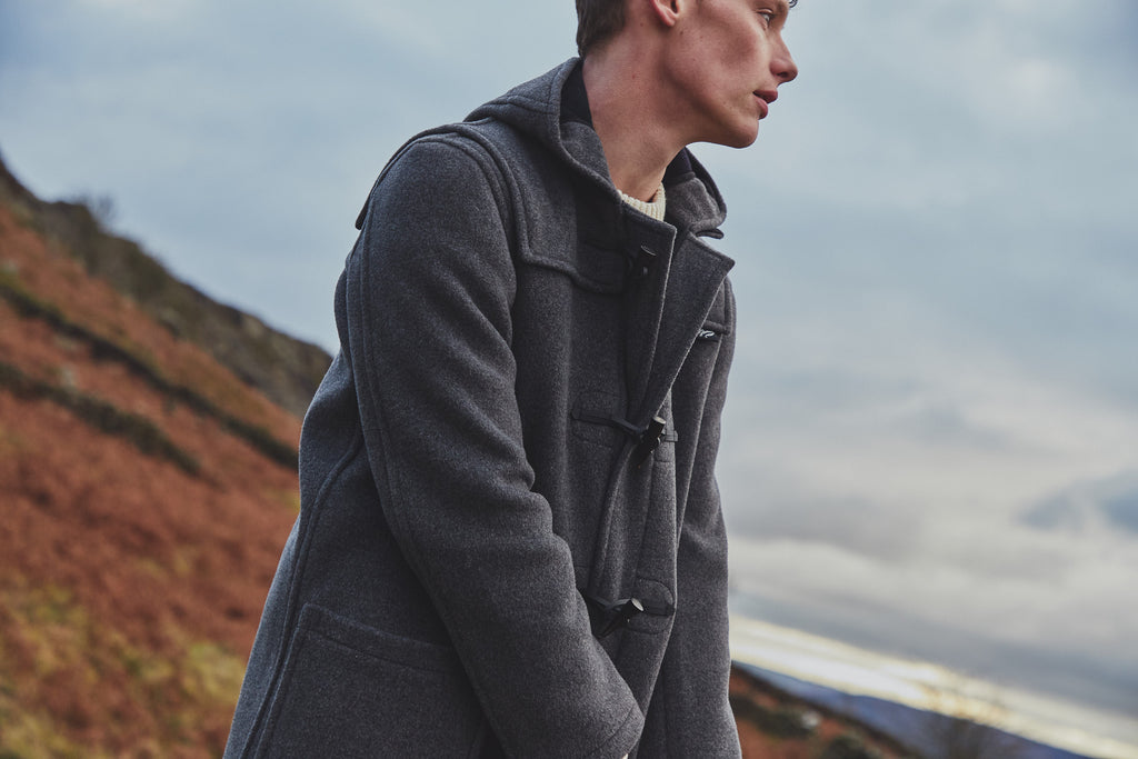 How to Wear a Duffle Coat Grey