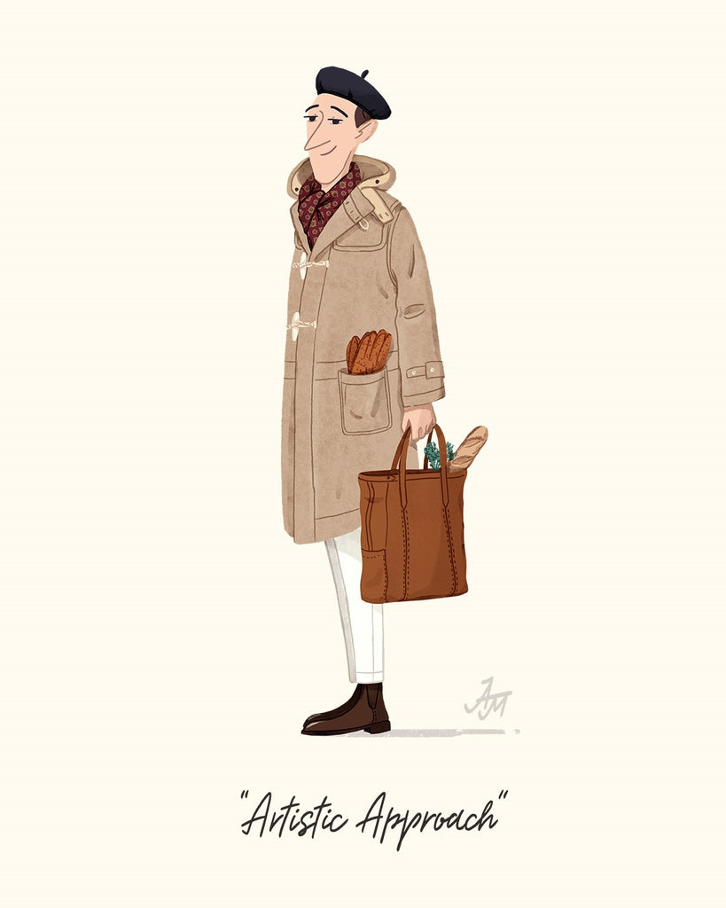 Montgomery Duffle Coat Illustration