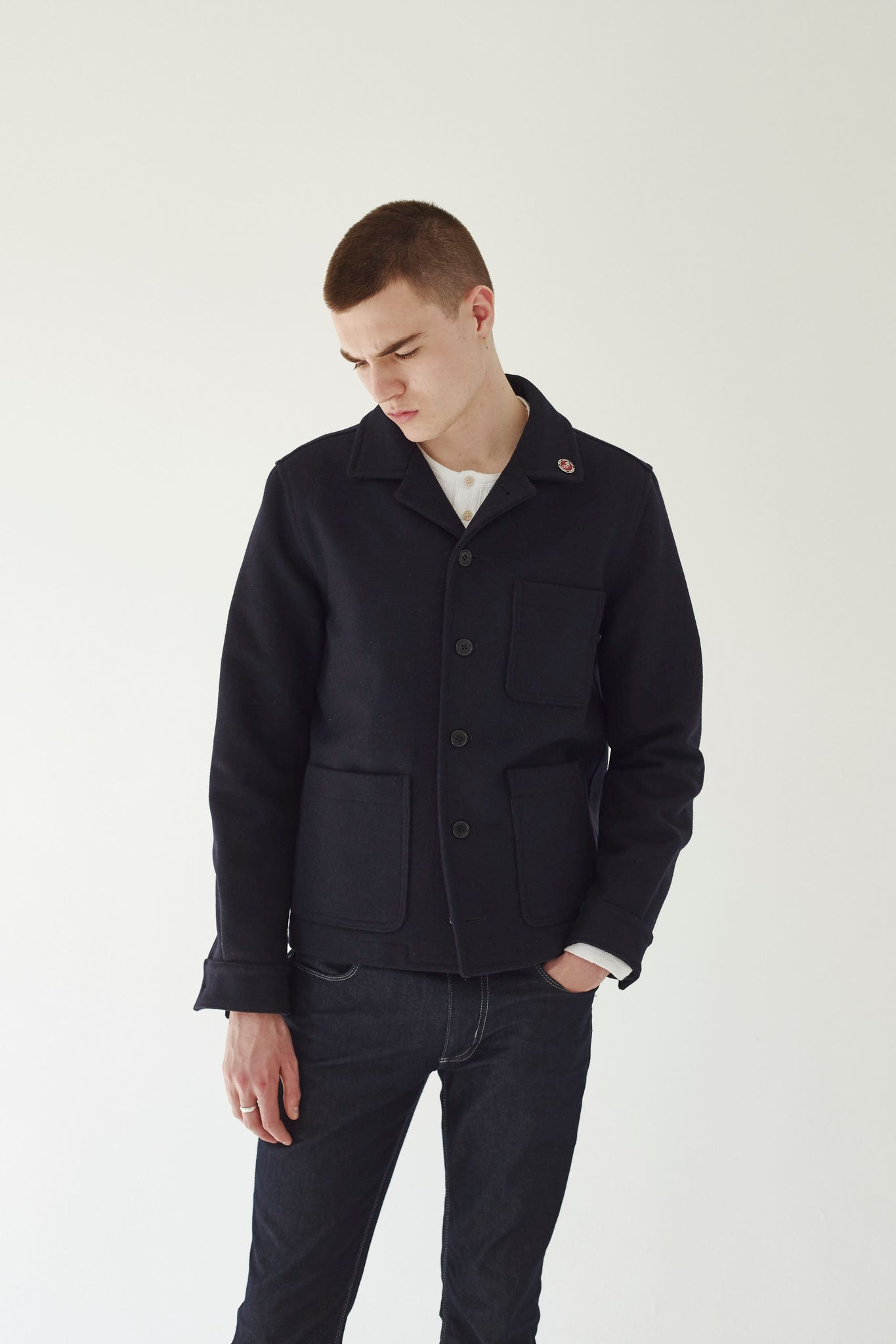 Mens Navy Donkey Jacket