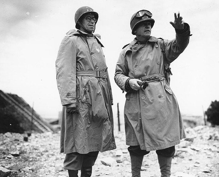 Lieutenant General Omar Bradley and Major General J. Lawton Collin