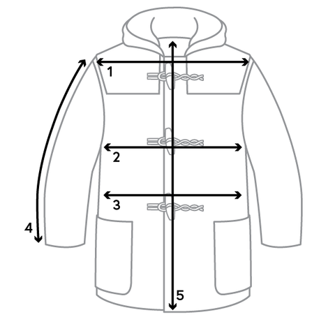 Mens Duffle Sizing Guide