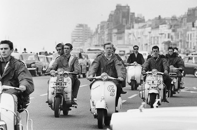 Mods at Brighton Beach, 1964