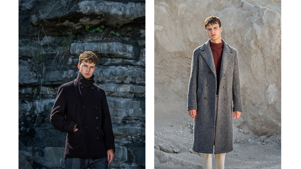 Gloverall Churchill Peacoat and Gloverall Grayson Peacoat