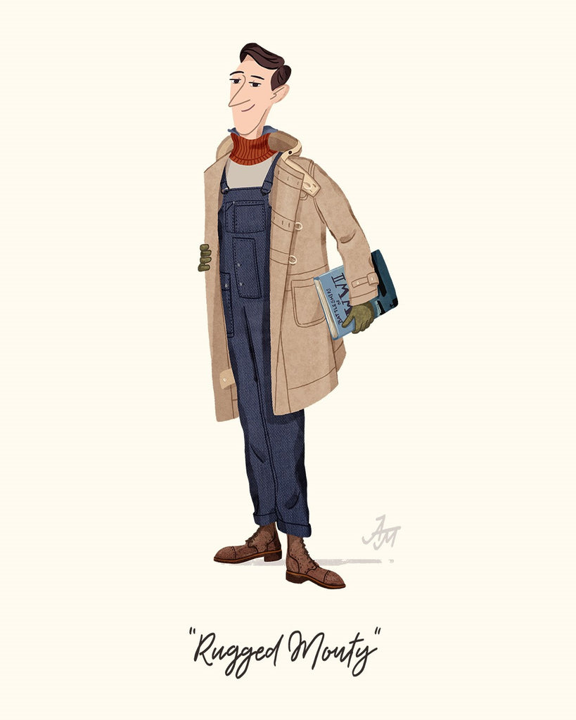 Montgomery Duffle Coat Art Illustration
