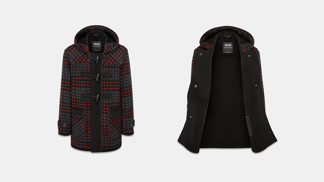 Gloverall X Très Bien The Checked Duffle Coat