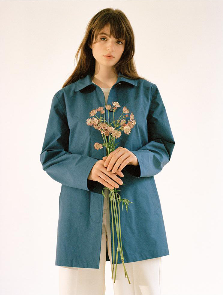Iris Car Coat in Petrol