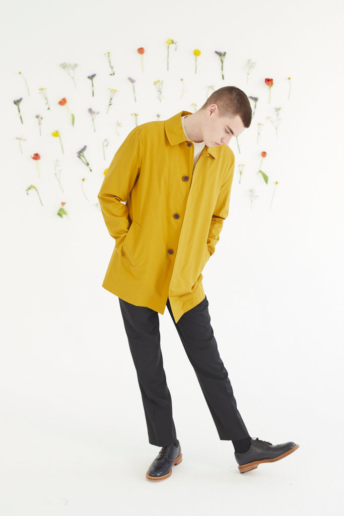 James Car Coat in Mustard
