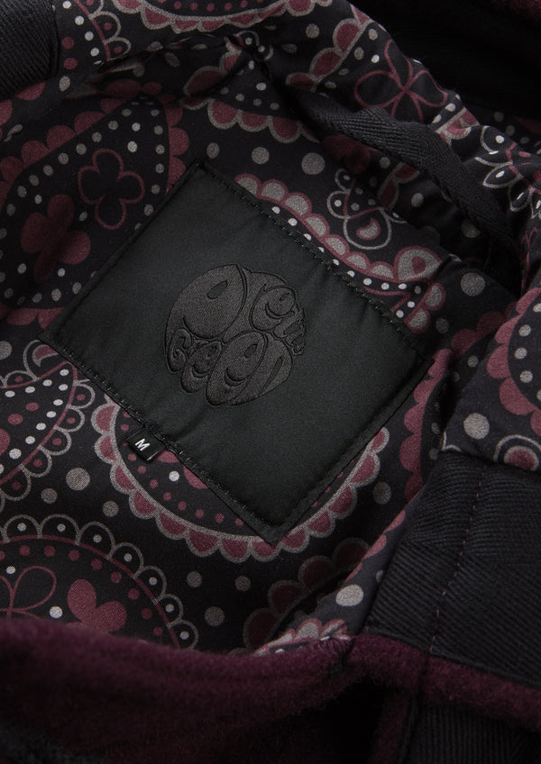 051276f3b Pretty Green AW17 'Black Label' duffle coat style is available in both  black and a beautifully rich burgundy with paisley throughout as both the  interior ...