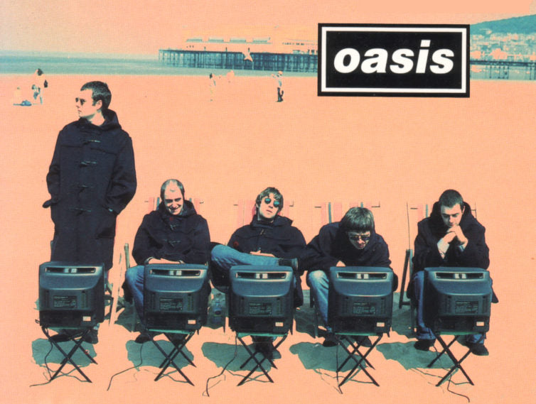 The Oasis Single Cover for 'Roll With It'.