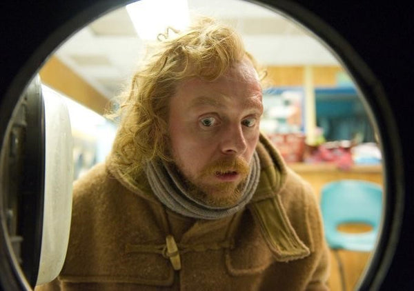 Simon Pegg Duffle Coat