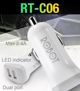 ROBOT RT-C06 Car Charger 2-port (Max 2.4A)